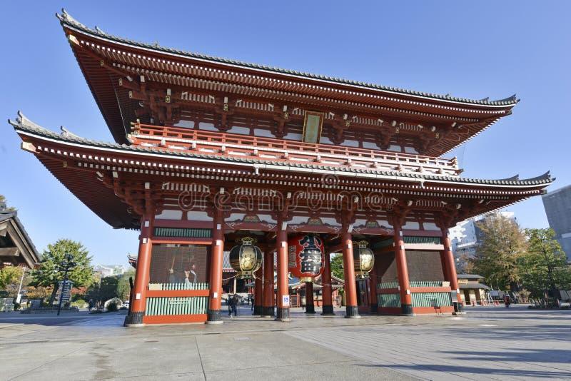 Sensoji佛教寺庙在浅草,东京,日本 图库摄影