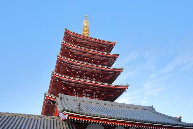 Sensoji寺庙东京日本 图库摄影