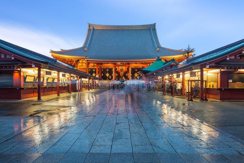 Sensoji寺庙在浅草,东京 免版税库存图片