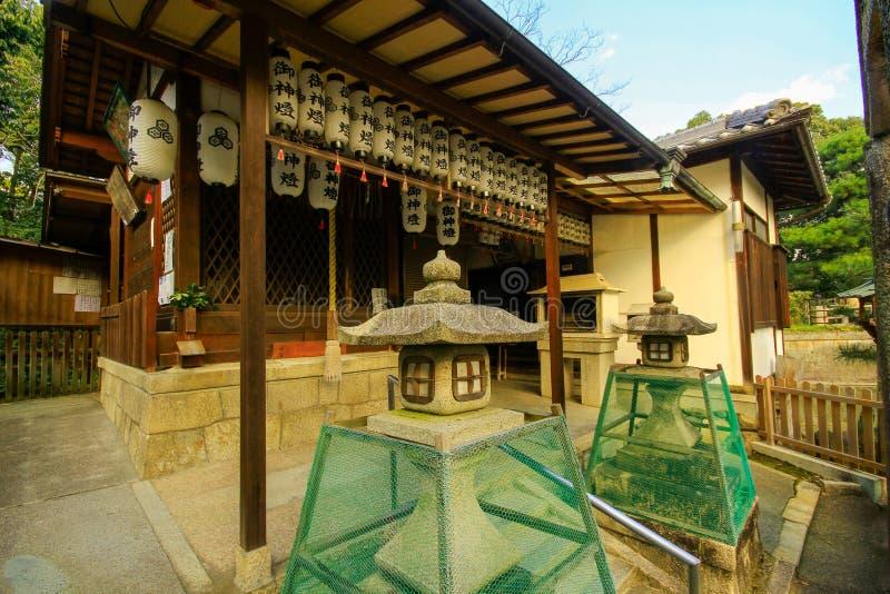 Sensoji寺庙,亦称浅草Kannon看法  最普遍为游人和它` s古庙在东京 免版税库存图片