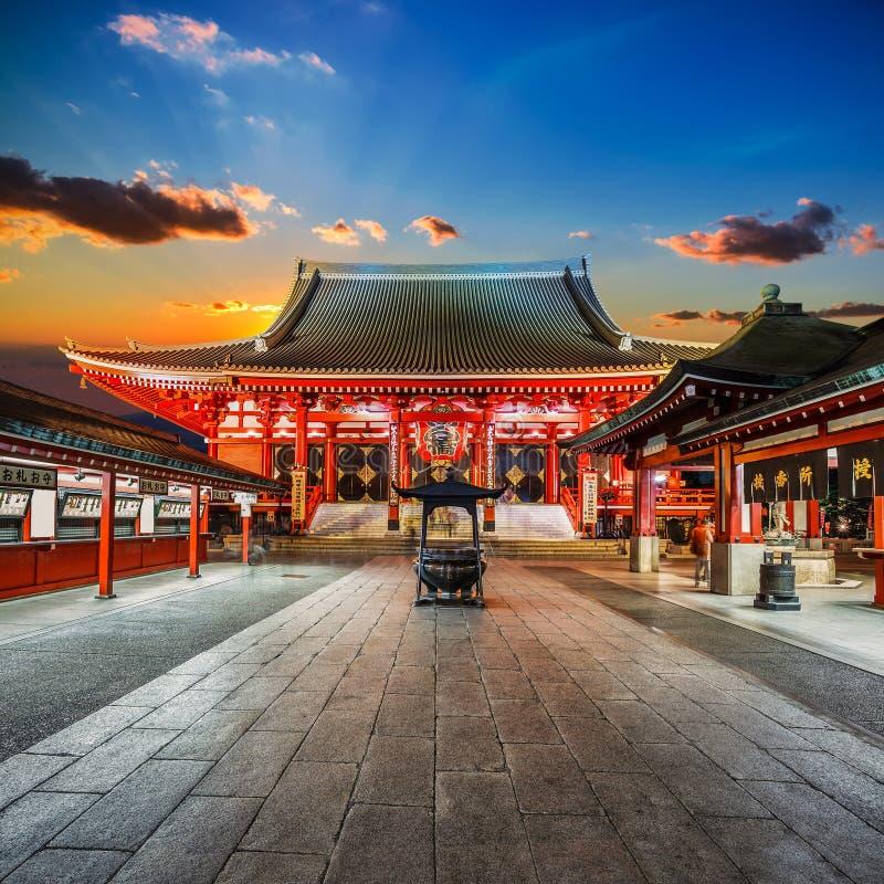 Sensoji寺庙(浅草Kannon)在东京 图库摄影