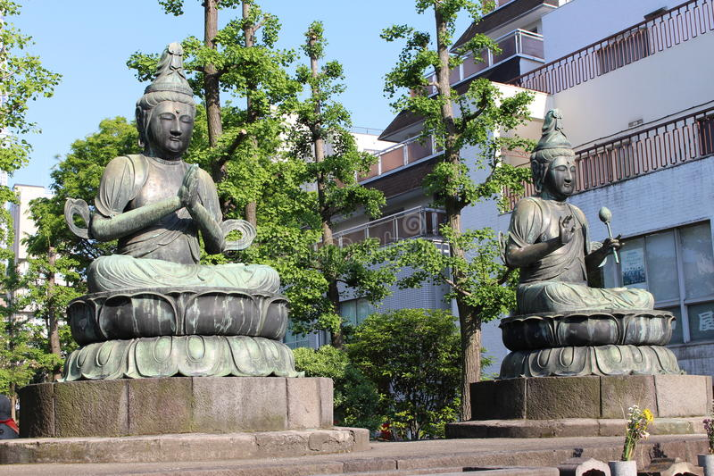 Sensoji寺庙Buddhas 库存图片