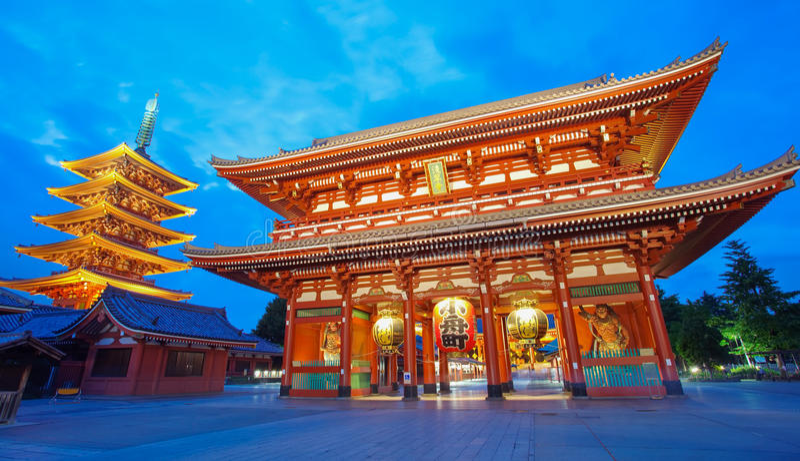 Sensoji浅草寺庙东京 免版税图库摄影
