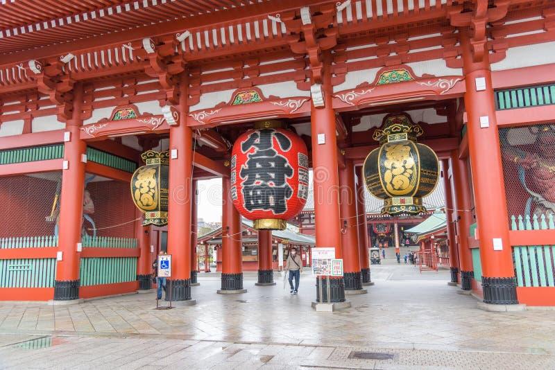 Sensoji浅草Kannon著名古老佛教寺庙在东京,日本 免版税图库摄影