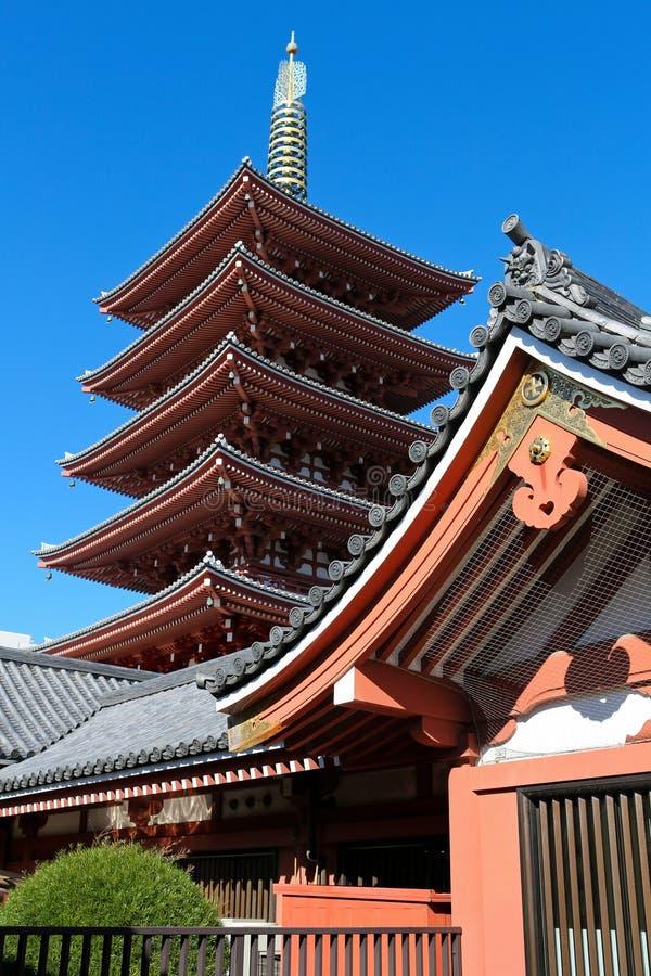 Sensoji Świątynia Asakusa obrazy royalty free