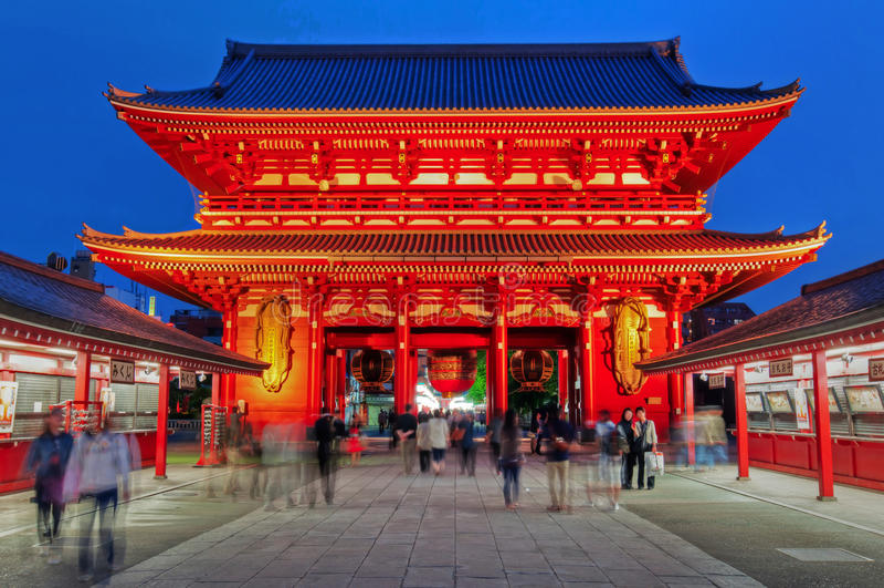 Sensoji świątynia, Tokio, Japonia fotografia stock