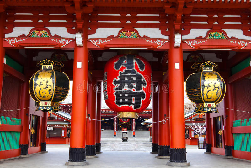 Sensoji Asakusa tempel royaltyfri foto