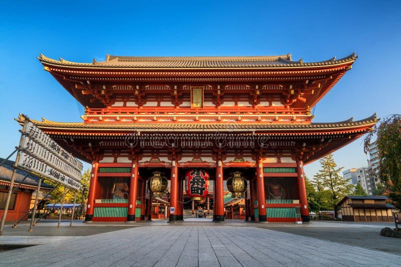 Sensoji-ji świątynia w Asakusa, Tokio, Japonia zdjęcie stock