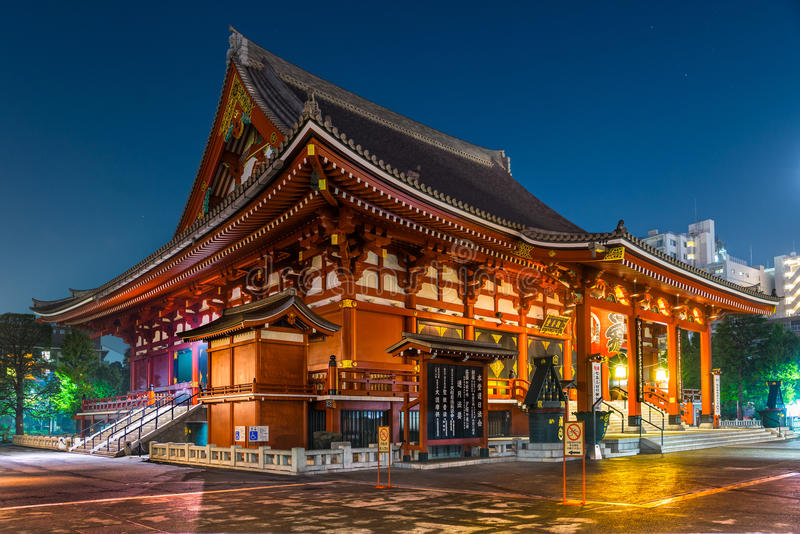 Sensoji-ji, Tempel in Asakusa, Tokyo, Japan lizenzfreies stockbild