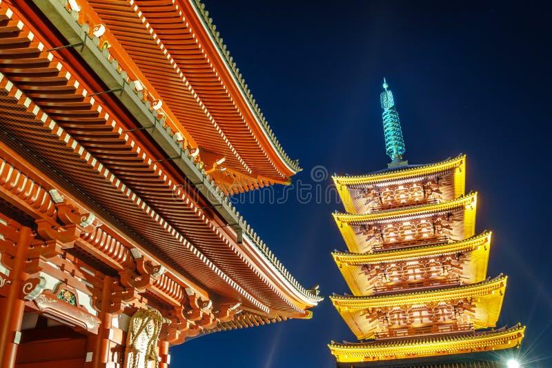 Sensoji-ji tempel i Asakusa royaltyfri bild