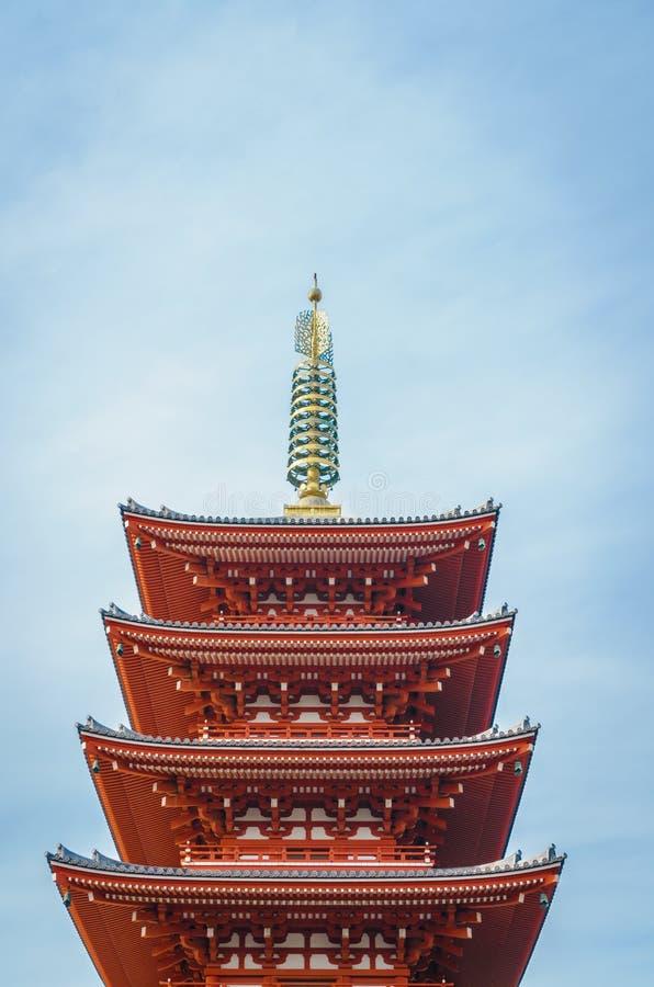 Sensoji-ji tempel i Asakusa Japan arkivbilder
