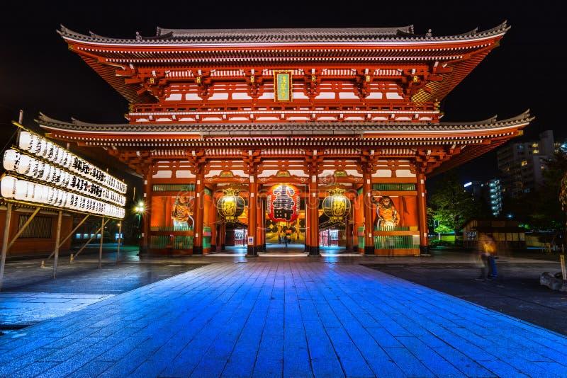 Sensoji-ji tempel i Asakusa, Tokyo, Japan arkivbilder
