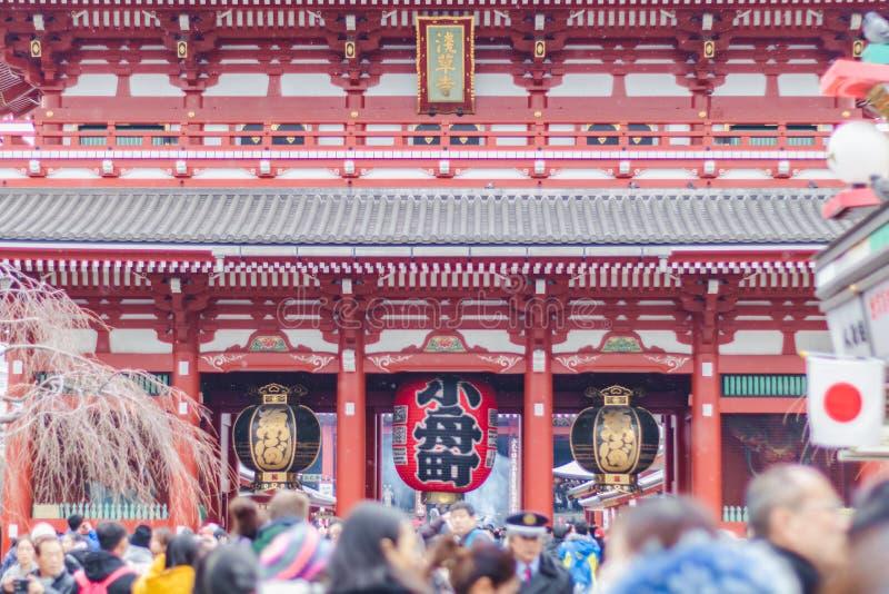 Sensoji teample royalty-vrije stock foto's