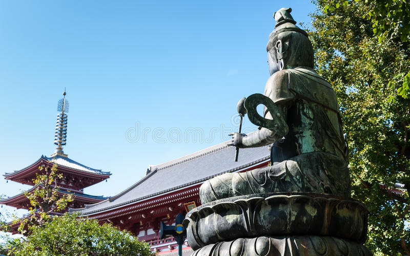 Sensoji-Tempel stockfotos