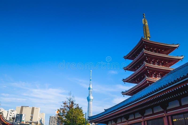 Sensoji tempel arkivfoton