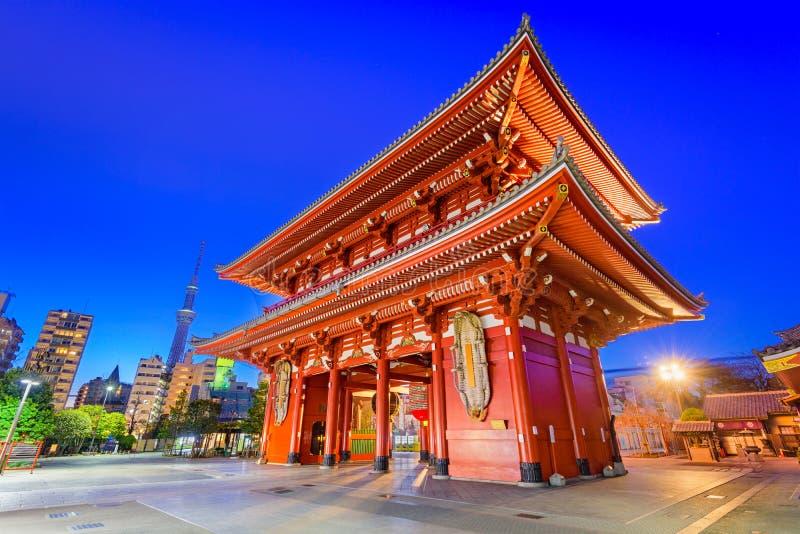 Sensoji-Tempel-Tor in Tokyo stockfotos