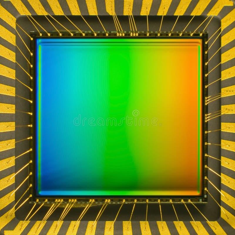 Sensor CCD op een kaart royalty-vrije stock foto's