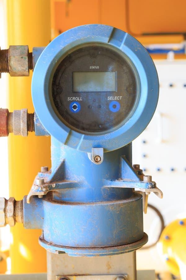 Sensor de la presión y de temperatura de Digitaces para industrial imagen de archivo