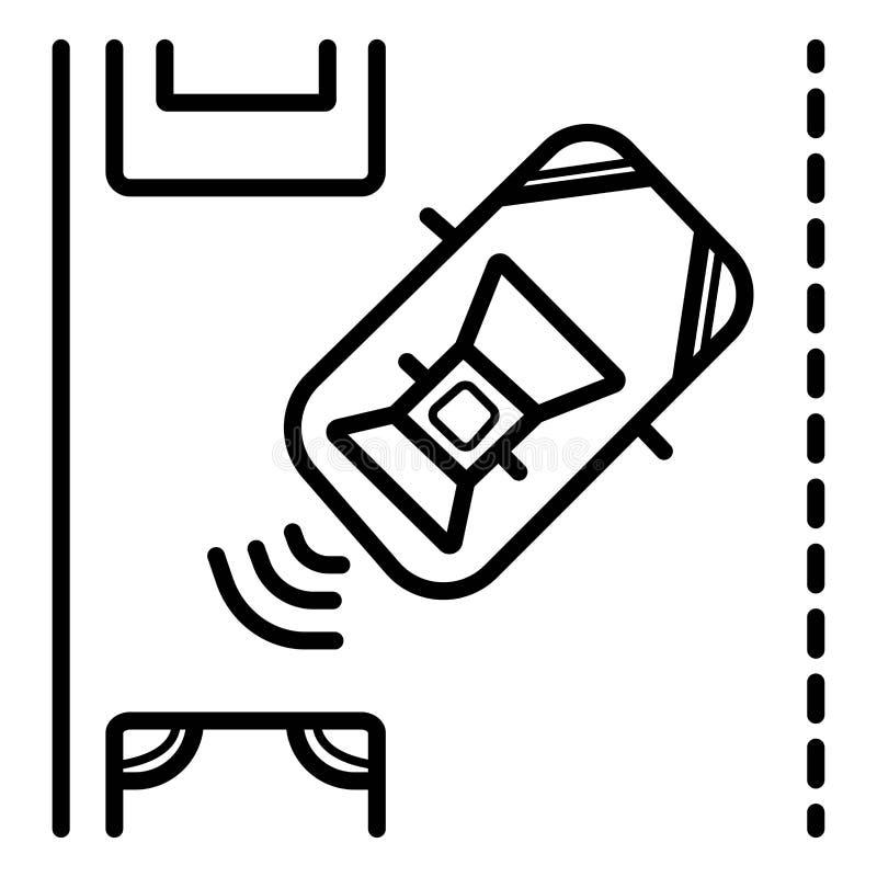 Sensor de Parktronic Assistência de estacionamento ilustração stock