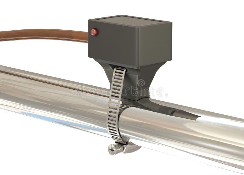 Sensor de temperatura con el diodo stock de ilustración