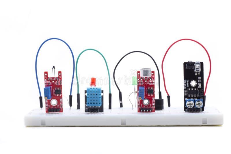 Sensor do arduino quatro fotografia de stock royalty free