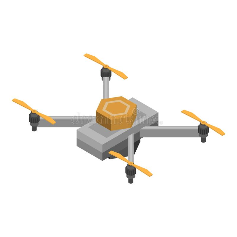 Videography Drone Icon, Isometric Style Stock Vector