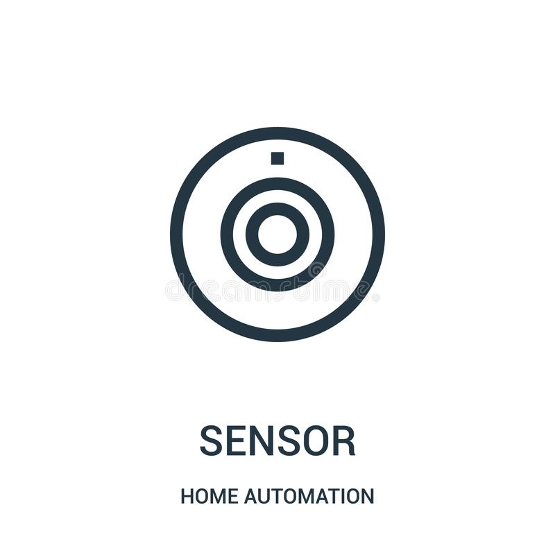 sensor icon vector from home automation collection. Thin line sensor outline icon vector illustration. Linear symbol vector illustration