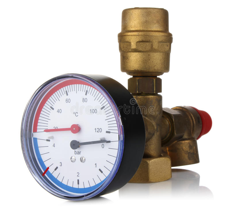 Sensor Temperature And Pressure Stock Photo