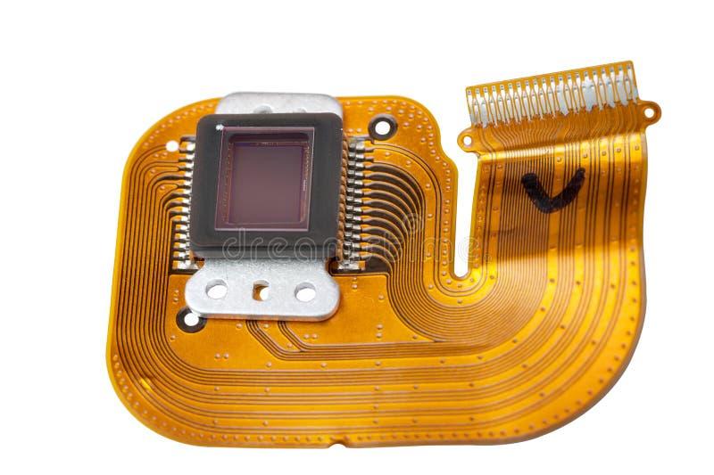 Sensor van de digitale camera royalty-vrije stock afbeelding