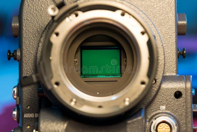 Sensores de cristal de las cámaras de vídeo foto de archivo libre de regalías