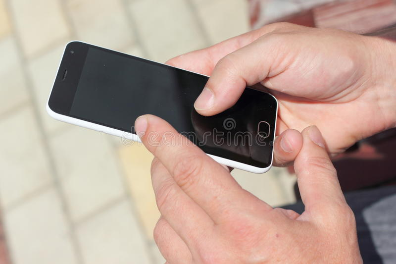 Sensorsmartphone stock foto