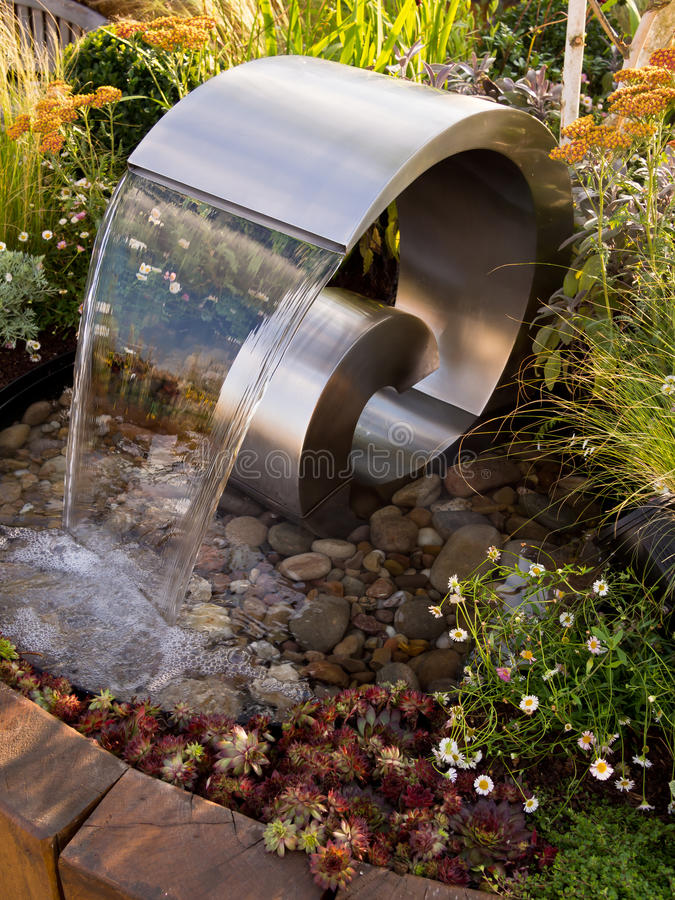 Sensory Garden Water Fountain Sculpture stock photography