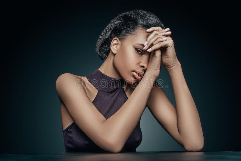 Sensual african american girl stock images