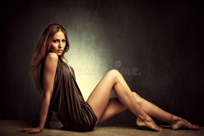 Sensual Barefoot Woman Royalty Free Stock Images