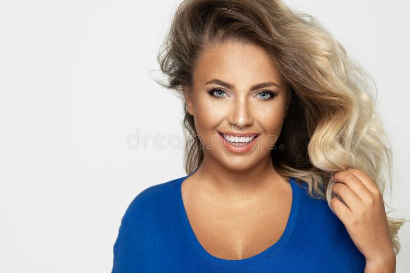 Sensual blonde woman royalty free stock images