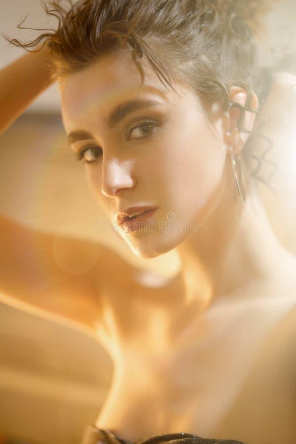 Sensual female portrait stock photo