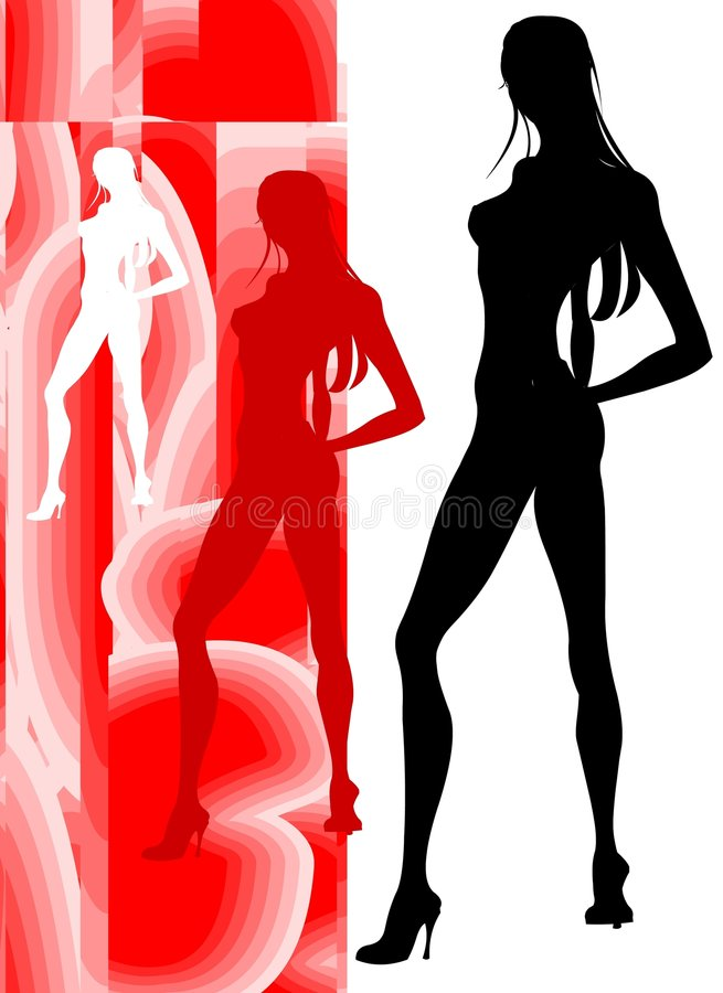 Sensual Beauty Silhouette royalty free stock images