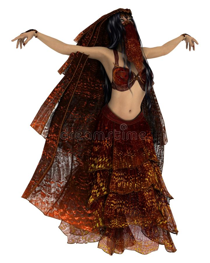 Sensual Belly dancer stock illustration