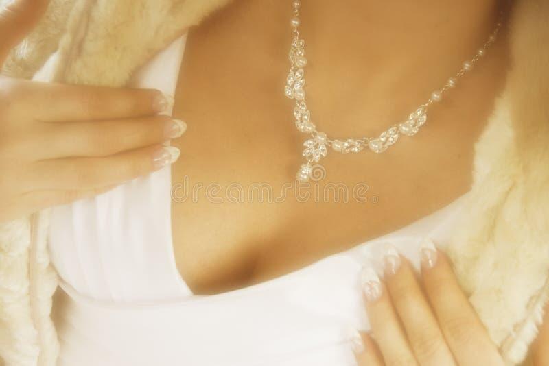 Sensual bride royalty free stock image
