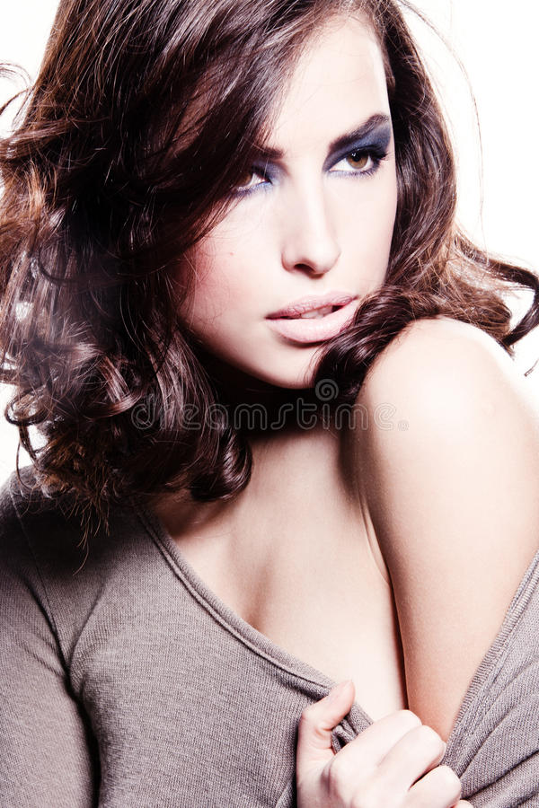Sensual brunette royalty free stock photography