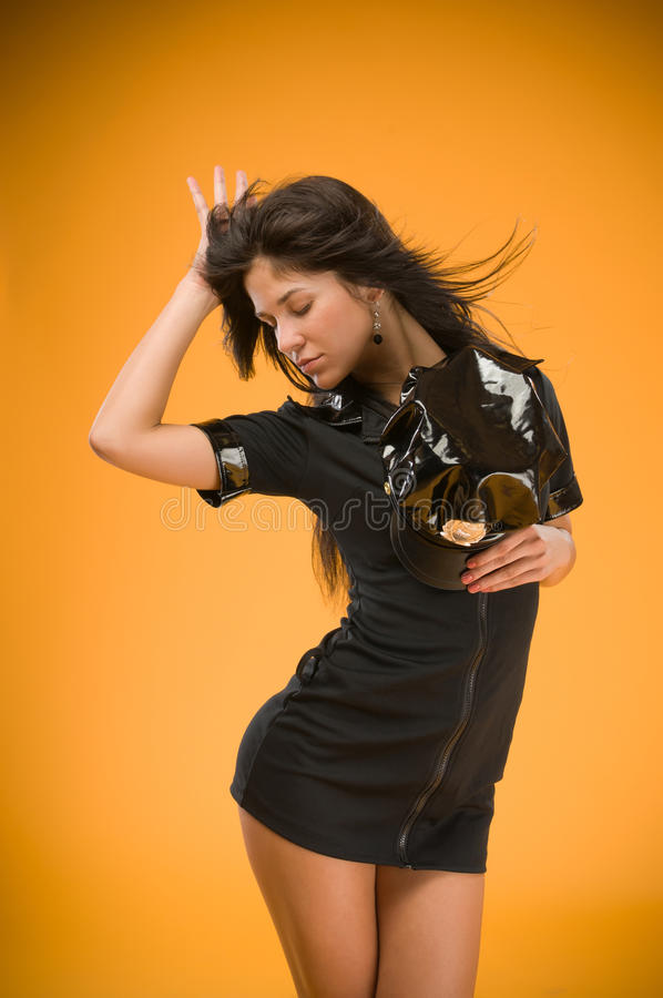 Download Sensual Brunette Police Woman Stock Image - Image: 15639357