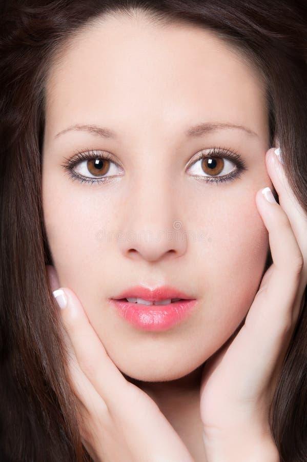 Download Sensual Closeup Portrait Of Beautiful Young Woman Stock Photo - Image: 24652026