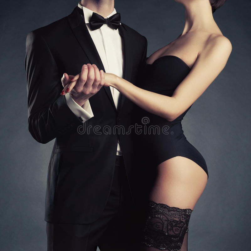 Download Sensual couple stock image. Image of classic, black, fine - 32662147