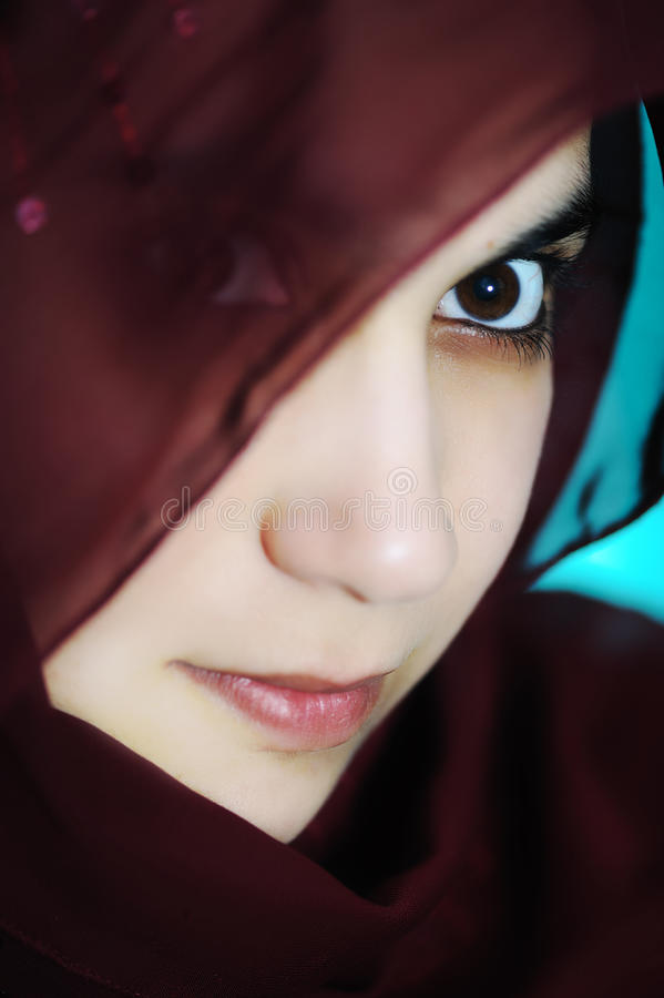 Sensual eastern, asian, arabic woman stock photography