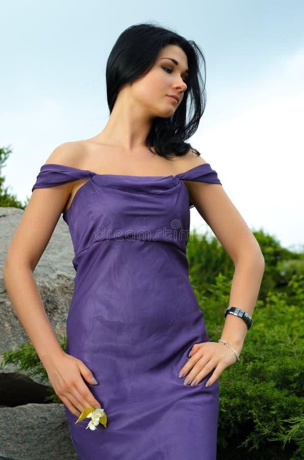 Download Sensual elegant woman stock photo. Image of outdoors - 26351746