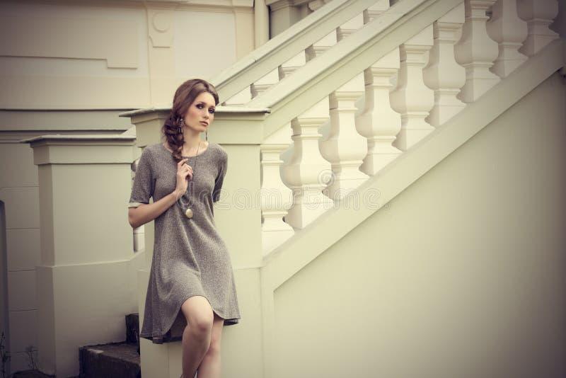 Sensual girl with fashion elegant style royalty free stock photos