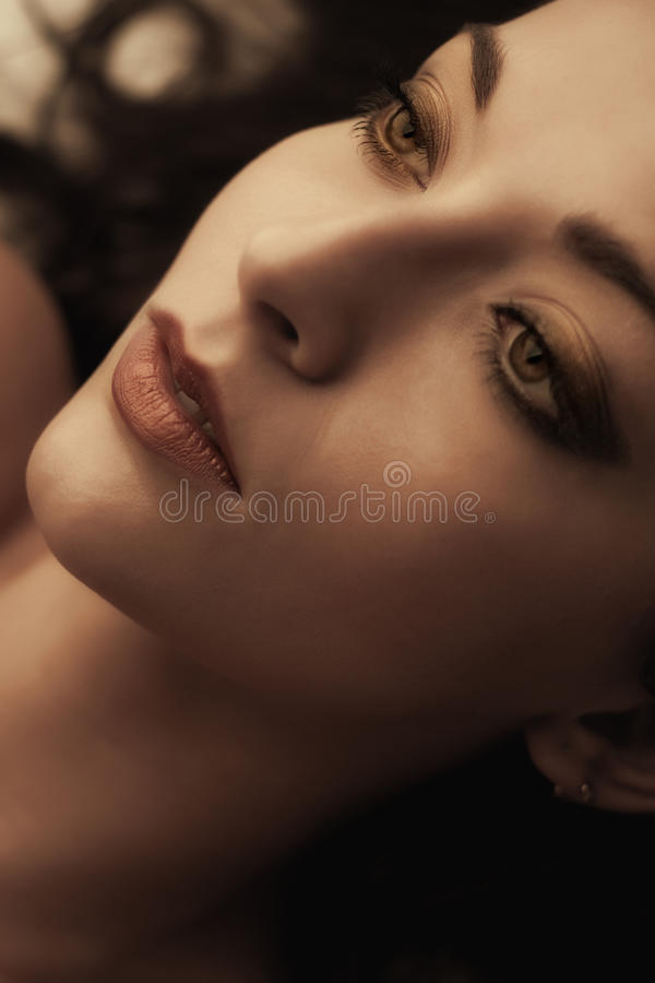Sensual girl portrait royalty free stock images