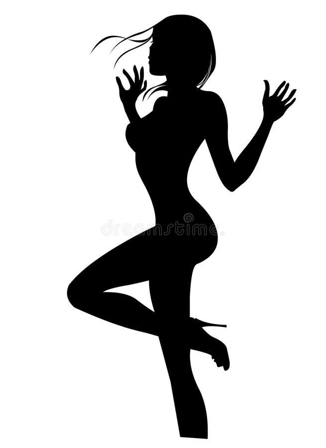Sensual Girl Silhouette Stock Photography