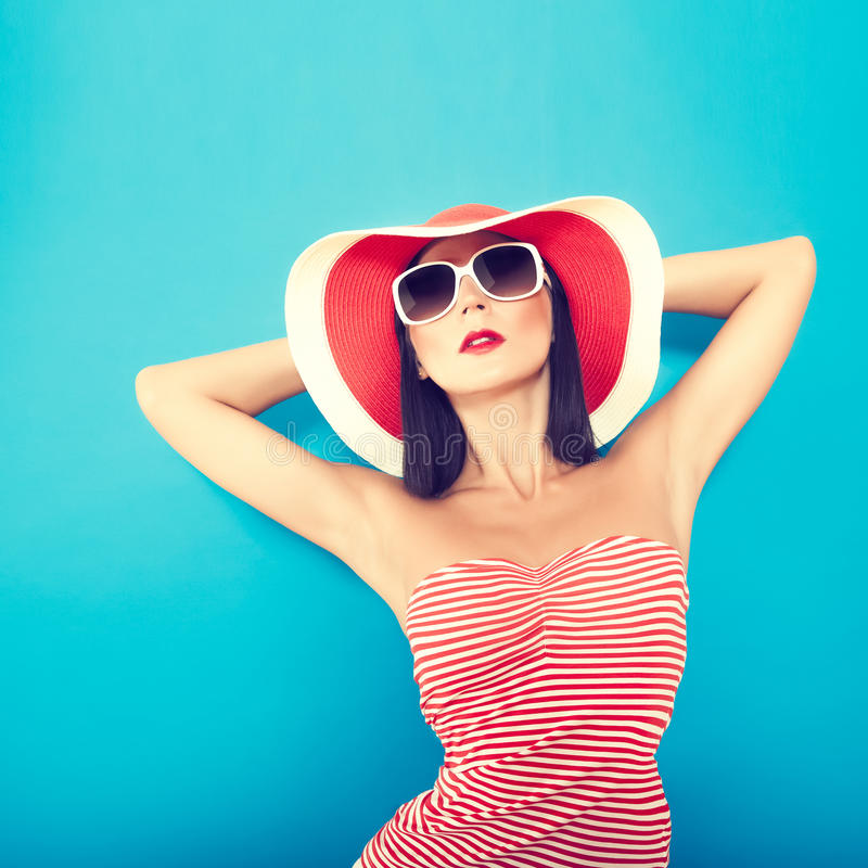 Sensual girl summer stock images