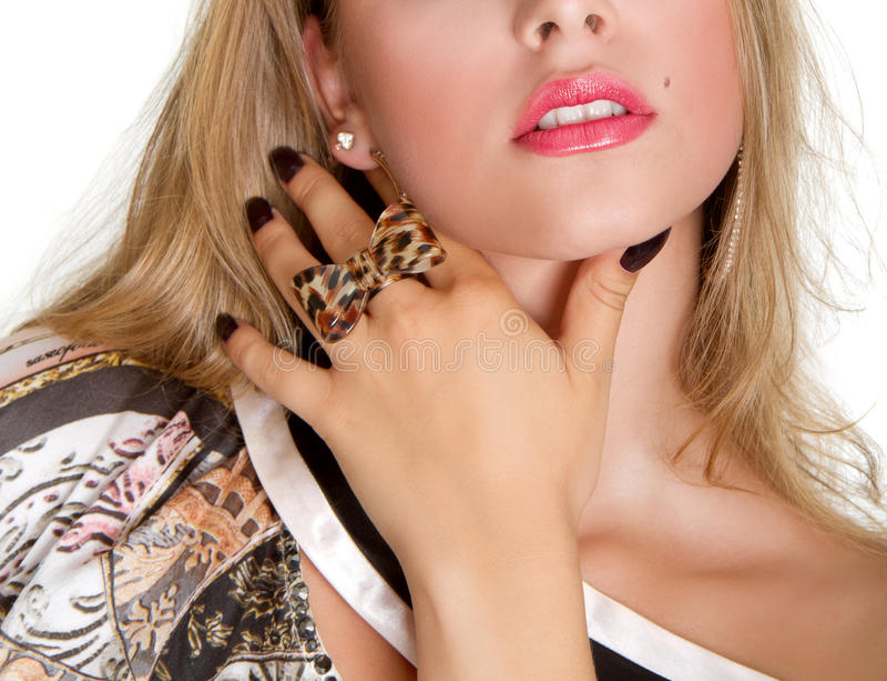 Sensual lips royalty free stock image